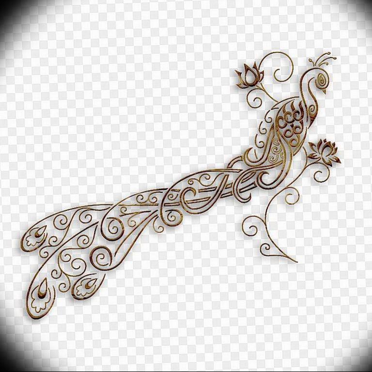 Фото мехенди павлин 13.05.2019 №022 - mehendi peacock - tatufoto.com