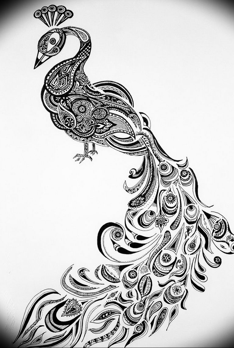 Фото мехенди павлин 13.05.2019 №050 - mehendi peacock - tatufoto.com