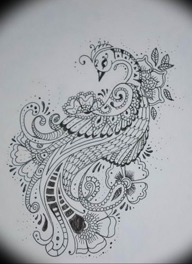 Фото мехенди павлин 13.05.2019 №052 - mehendi peacock - tatufoto.com