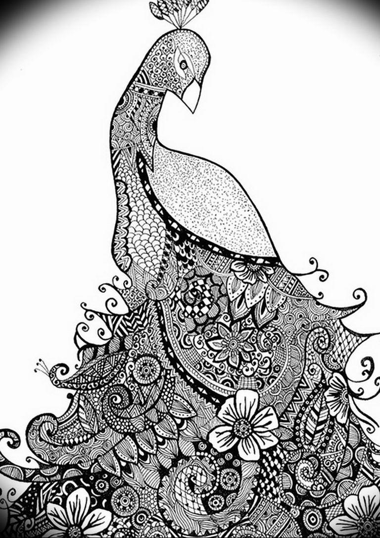Фото мехенди павлин 13.05.2019 №062 - mehendi peacock - tatufoto.com