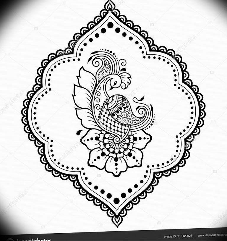 Фото мехенди павлин 13.05.2019 №083 - mehendi peacock - tatufoto.com