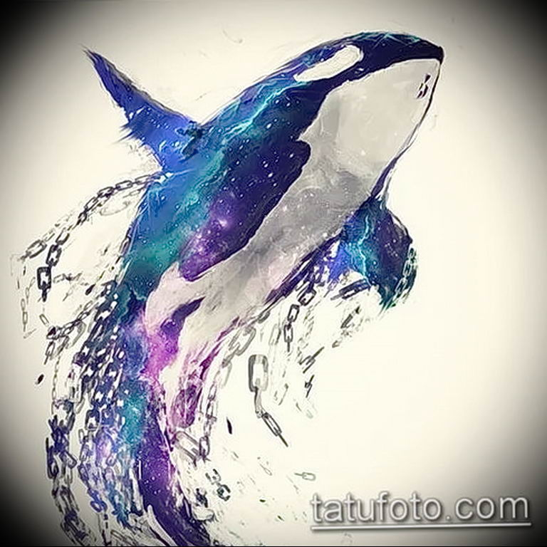 Эскиз для тату касатка 31.05.2019 №030 - sketch tattoo killer whale - tatufoto.com