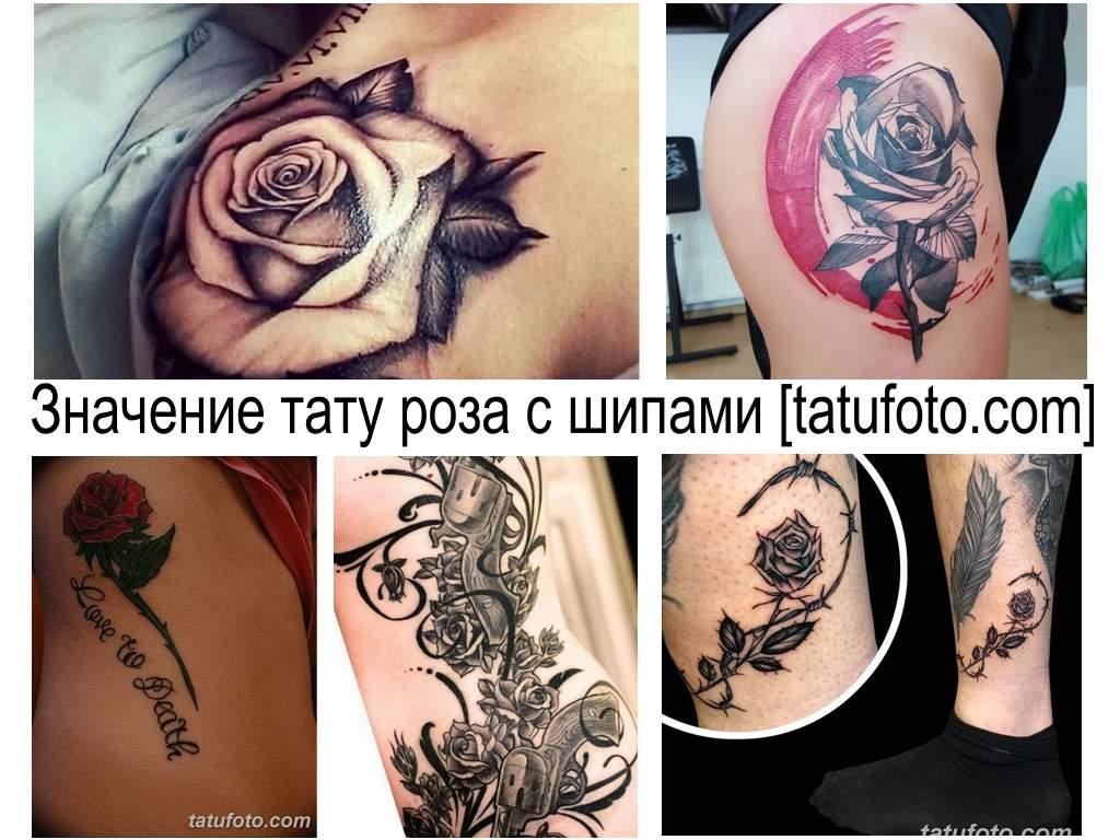 Значение тату роза с шипами - все про особенности рисунка татуировки и фото примеры готовых работ