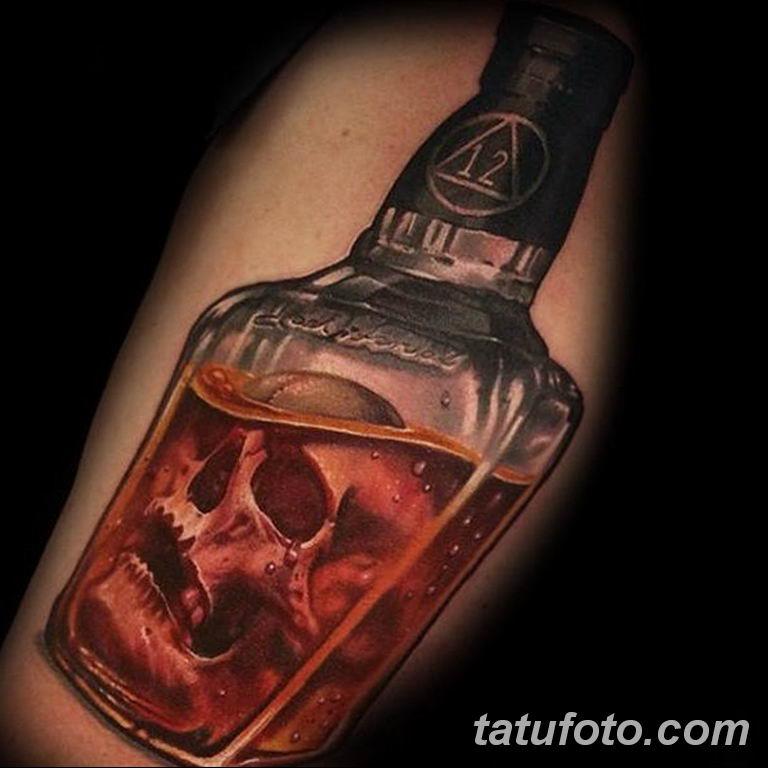 Тату бардак - тату алкоголь 26.06.2019 №006 - alcohol tattoo - tatufoto.com