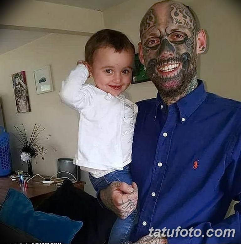 Фото Отец двух детей потратил 28000 на 250 тату 25.06.2019 №003 - tattoo - tatufoto.com