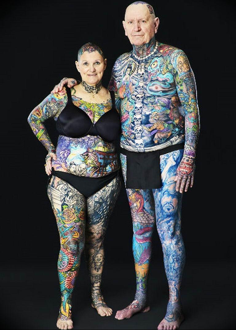 Фото пример много тату на теле 25.06.2019 №002 - many tattoos on the body - tatufoto.com