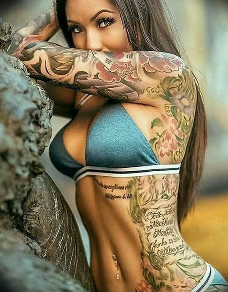 Фото пример много тату на теле 25.06.2019 №020 - many tattoos on the body - tatufoto.com