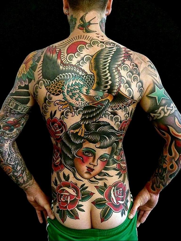 Фото пример много тату на теле 25.06.2019 №038 - whole body tattoo - tatufoto.com