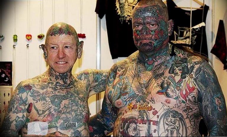 Фото пример тату на все тело 25.06.2019 №009 - whole body tattoo - tatufoto.com