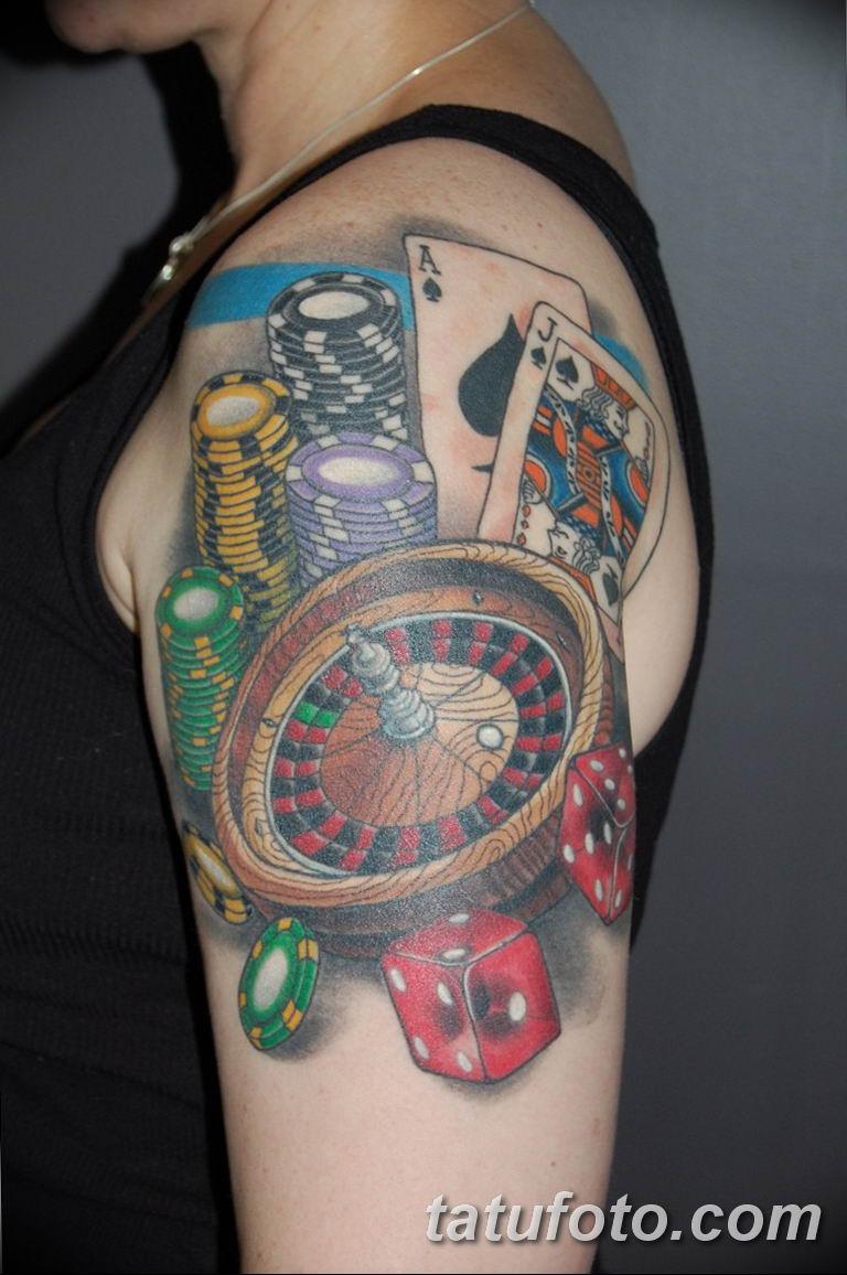 Фото тату бардак - тату казино 26.06.2019 №010 - tattoo casino - tatufoto.com