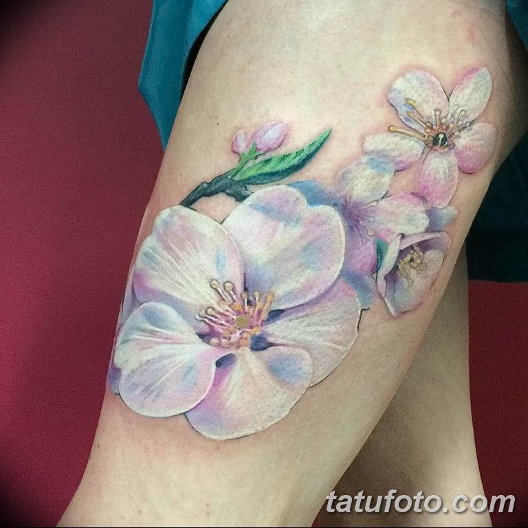 Фото тату белые цветы18.06.2019 №003 - tattoo white flowers - tatufoto.com