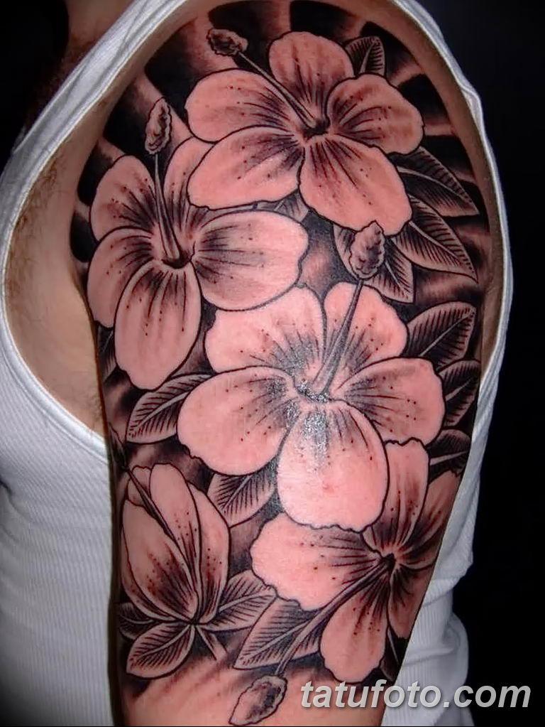 Фото тату белые цветы18.06.2019 №024 - tattoo white flowers - tatufoto.com