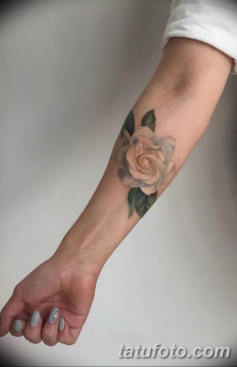 Фото тату белые цветы18.06.2019 №041 - tattoo white flowers - tatufoto.com