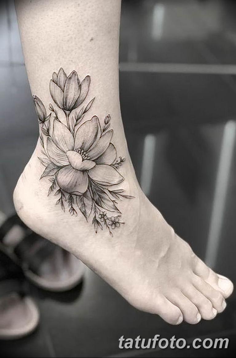Фото тату белые цветы18.06.2019 №042 - tattoo white flowers - tatufoto.com