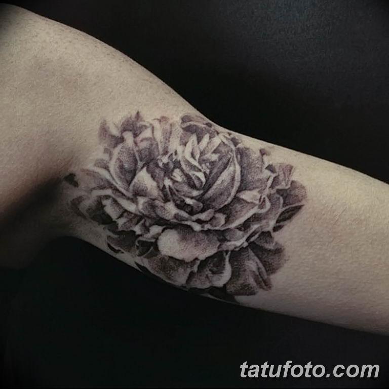 Фото тату белые цветы18.06.2019 №063 - tattoo white flowers - tatufoto.com