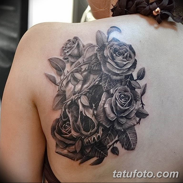 Фото тату белые цветы18.06.2019 №066 - tattoo white flowers - tatufoto.com