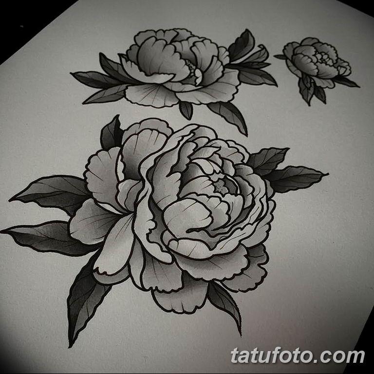 Фото тату белые цветы18.06.2019 №067 - tattoo white flowers - tatufoto.com