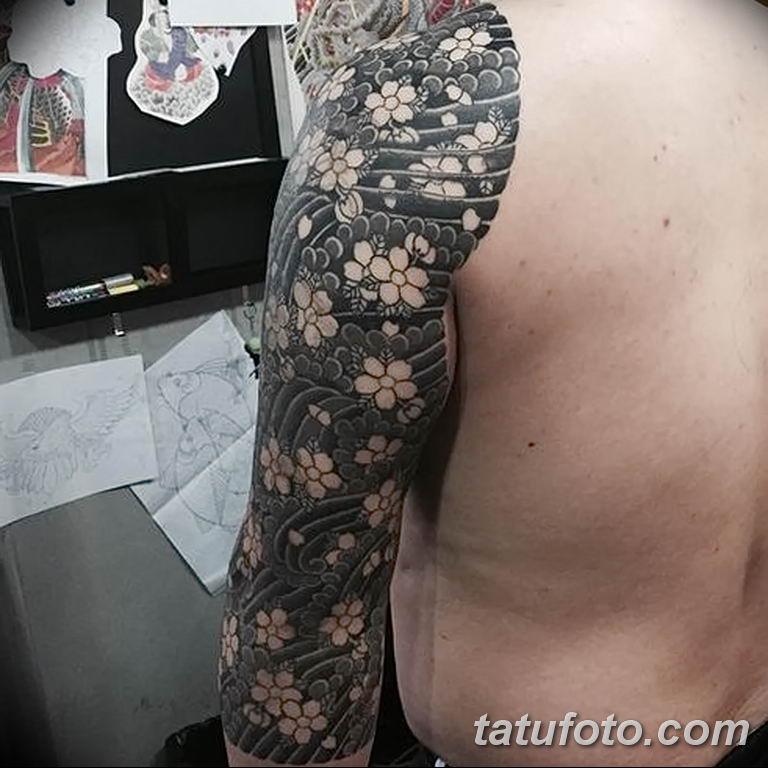 Фото тату белые цветы18.06.2019 №068 - tattoo white flowers - tatufoto.com