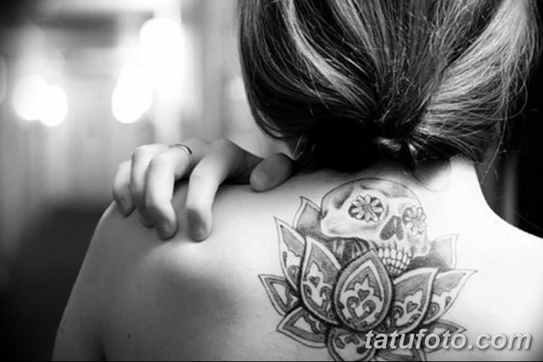 Фото тату белые цветы18.06.2019 №071 - tattoo white flowers - tatufoto.com