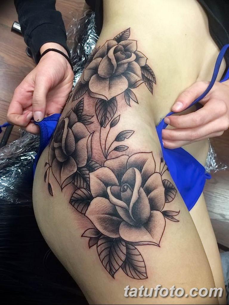 Фото тату белые цветы18.06.2019 №075 - tattoo white flowers - tatufoto.com