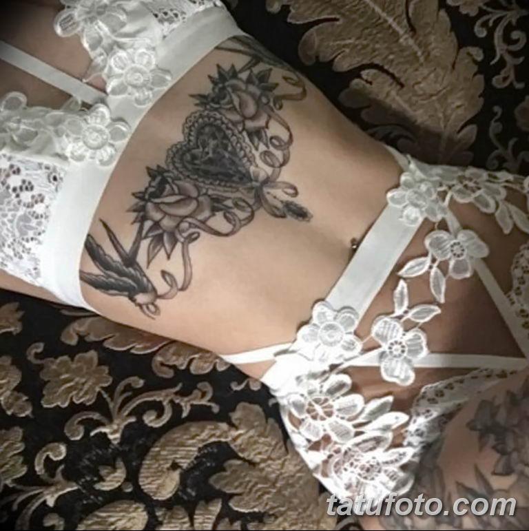 Фото тату белые цветы18.06.2019 №077 - tattoo white flowers - tatufoto.com