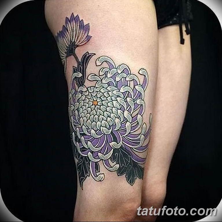 Фото тату белые цветы18.06.2019 №082 - tattoo white flowers - tatufoto.com