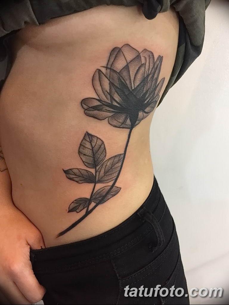 Фото тату белые цветы18.06.2019 №088 - tattoo white flowers - tatufoto.com