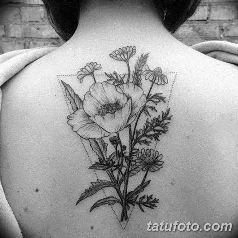 Фото тату белые цветы18.06.2019 №099 - tattoo white flowers - tatufoto.com