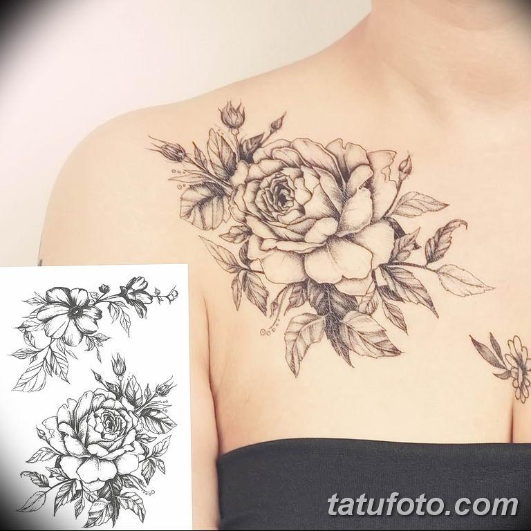 Фото тату белые цветы18.06.2019 №104 - tattoo white flowers - tatufoto.com