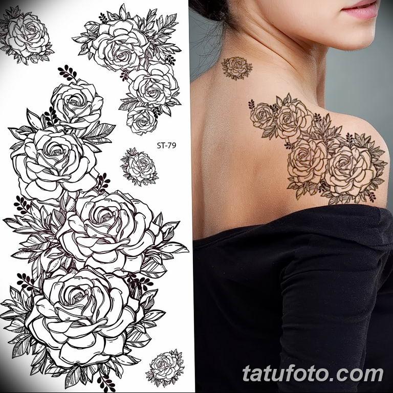 Фото тату белые цветы18.06.2019 №106 - tattoo white flowers - tatufoto.com