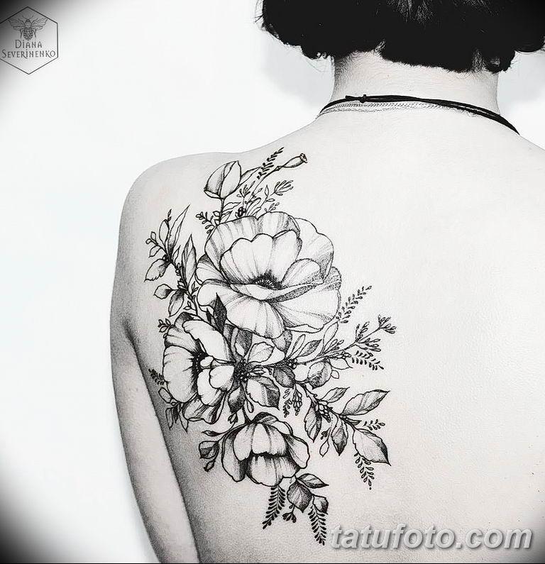 Фото тату белые цветы18.06.2019 №108 - tattoo white flowers - tatufoto.com