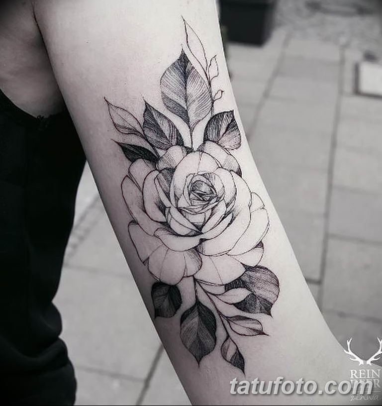 Фото тату белые цветы18.06.2019 №112 - tattoo white flowers - tatufoto.com
