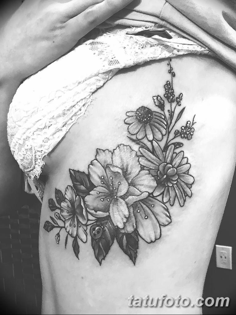 Фото тату белые цветы18.06.2019 №114 - tattoo white flowers - tatufoto.com