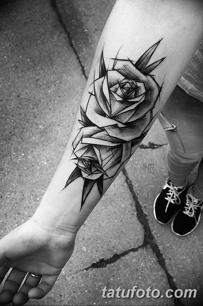 Фото тату белые цветы18.06.2019 №117 - tattoo white flowers - tatufoto.com