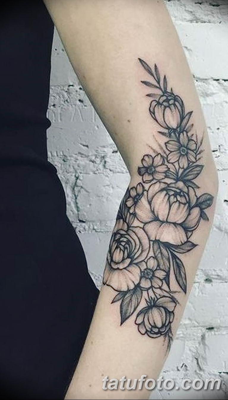 Фото тату белые цветы18.06.2019 №118 - tattoo white flowers - tatufoto.com