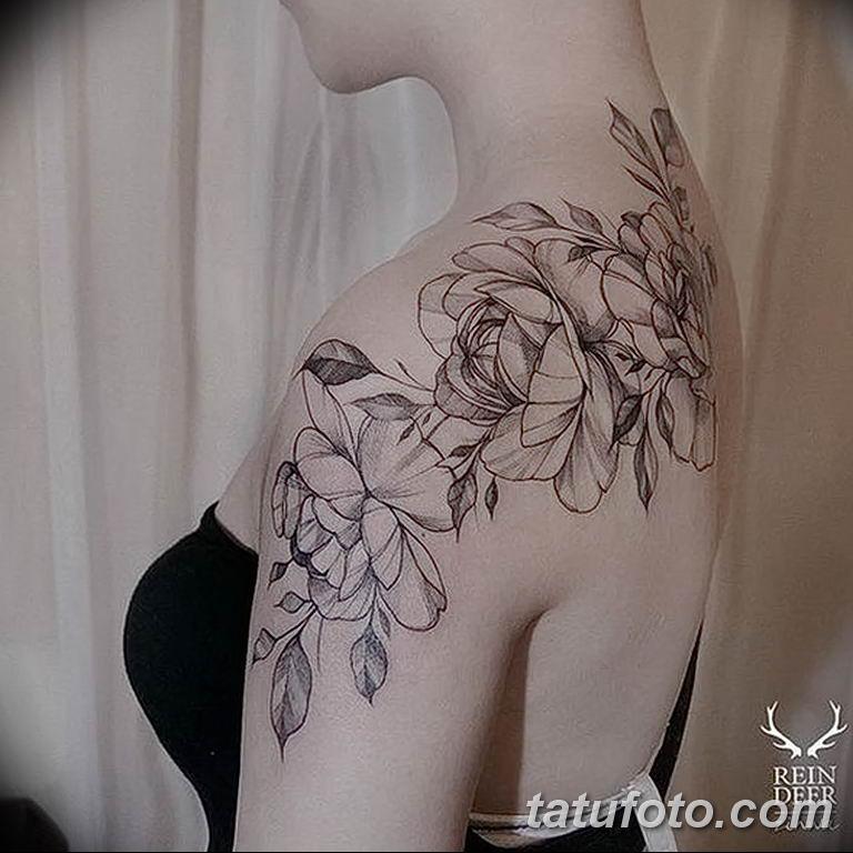 Фото тату белые цветы18.06.2019 №119 - tattoo white flowers - tatufoto.com