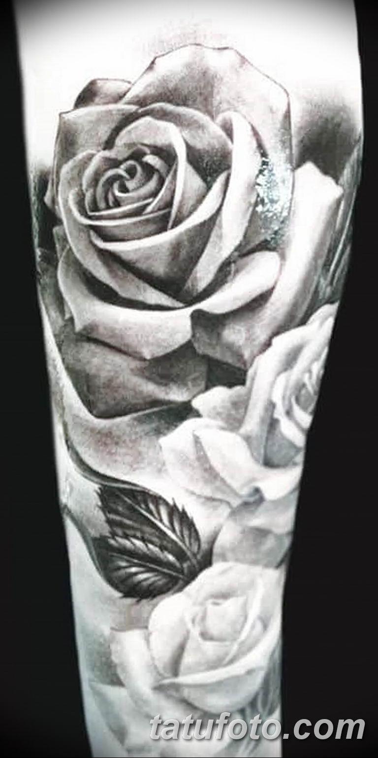 Фото тату белые цветы18.06.2019 №128 - tattoo white flowers - tatufoto.com