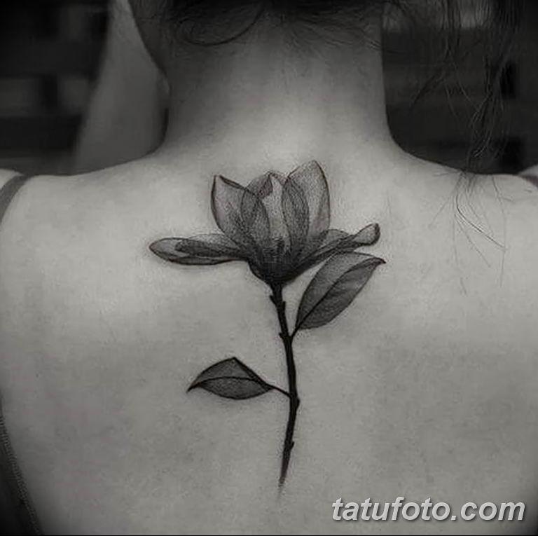 Фото тату белые цветы18.06.2019 №130 - tattoo white flowers - tatufoto.com