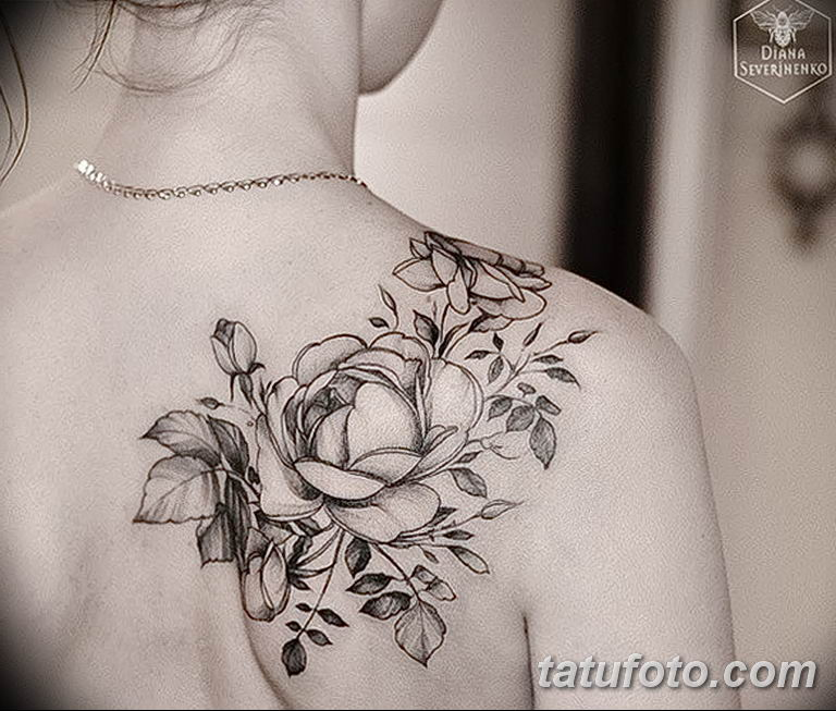 Фото тату белые цветы18.06.2019 №141 - tattoo white flowers - tatufoto.com