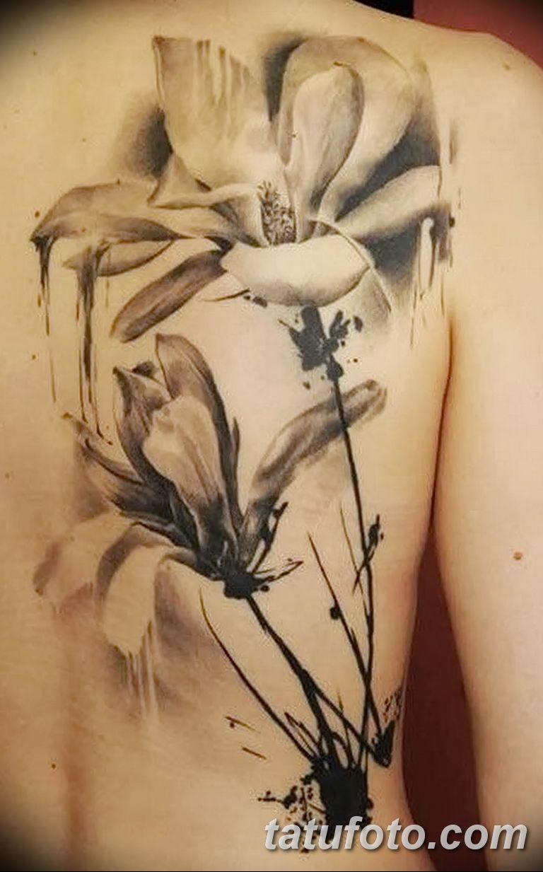 Фото тату белые цветы18.06.2019 №149 - tattoo white flowers - tatufoto.com