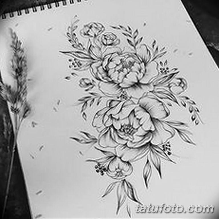 Фото тату белые цветы18.06.2019 №164 - tattoo white flowers - tatufoto.com