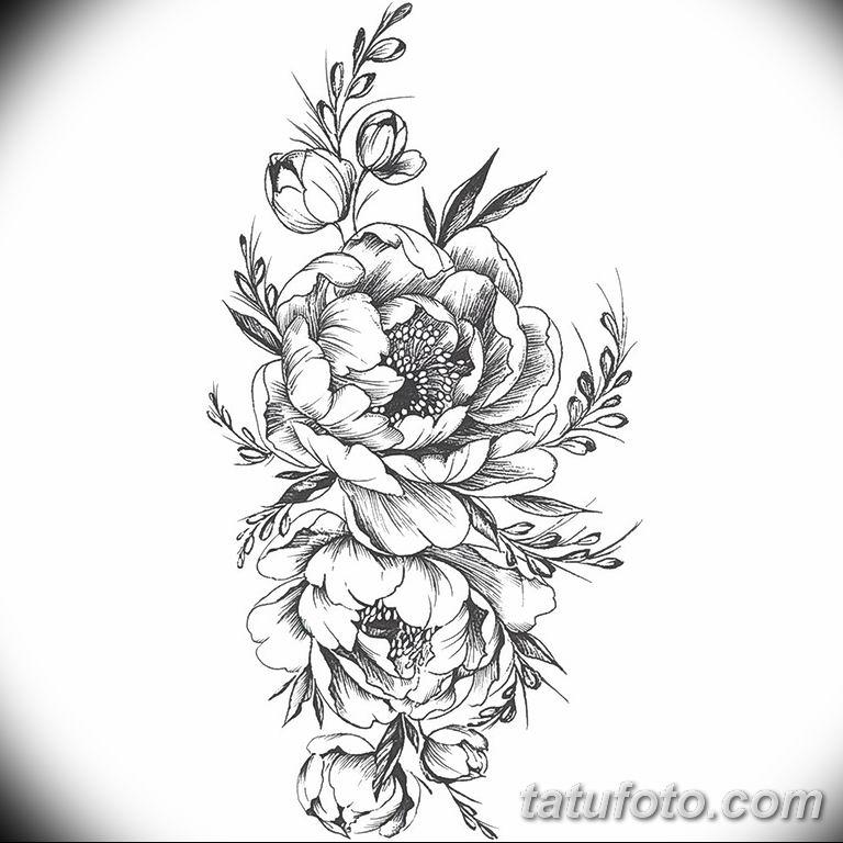 Фото тату белые цветы18.06.2019 №168 - tattoo white flowers - tatufoto.com