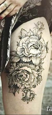 Фото тату белые цветы18.06.2019 №175 – tattoo white flowers – tatufoto.com