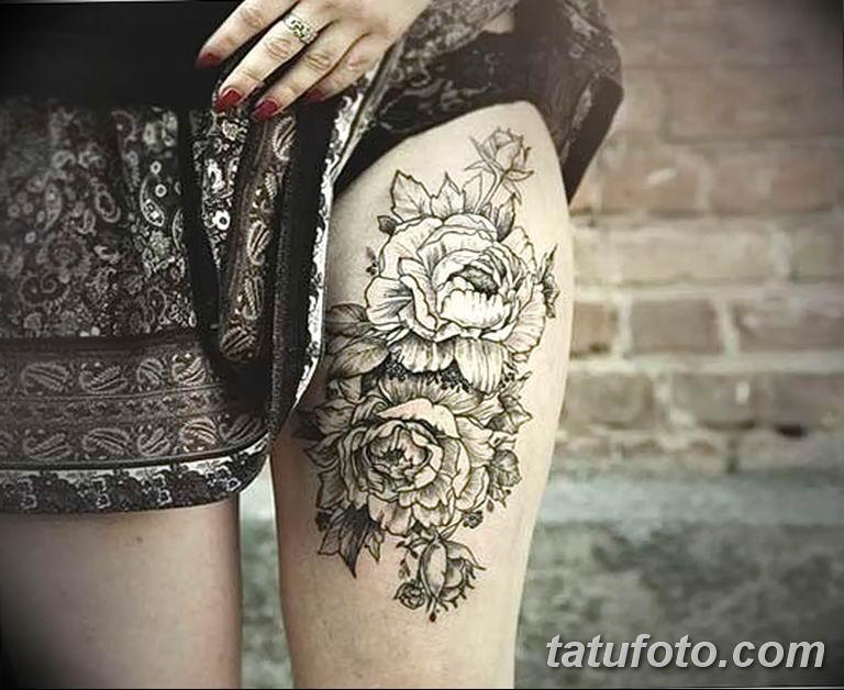 Фото тату белые цветы18.06.2019 №175 - tattoo white flowers - tatufoto.com