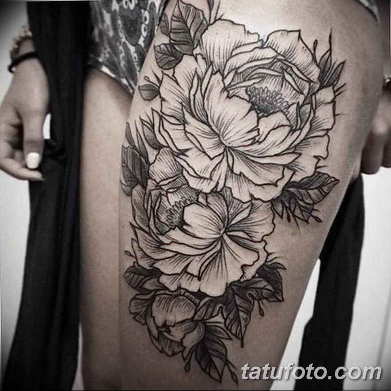 Фото тату белые цветы18.06.2019 №180 - tattoo white flowers - tatufoto.com