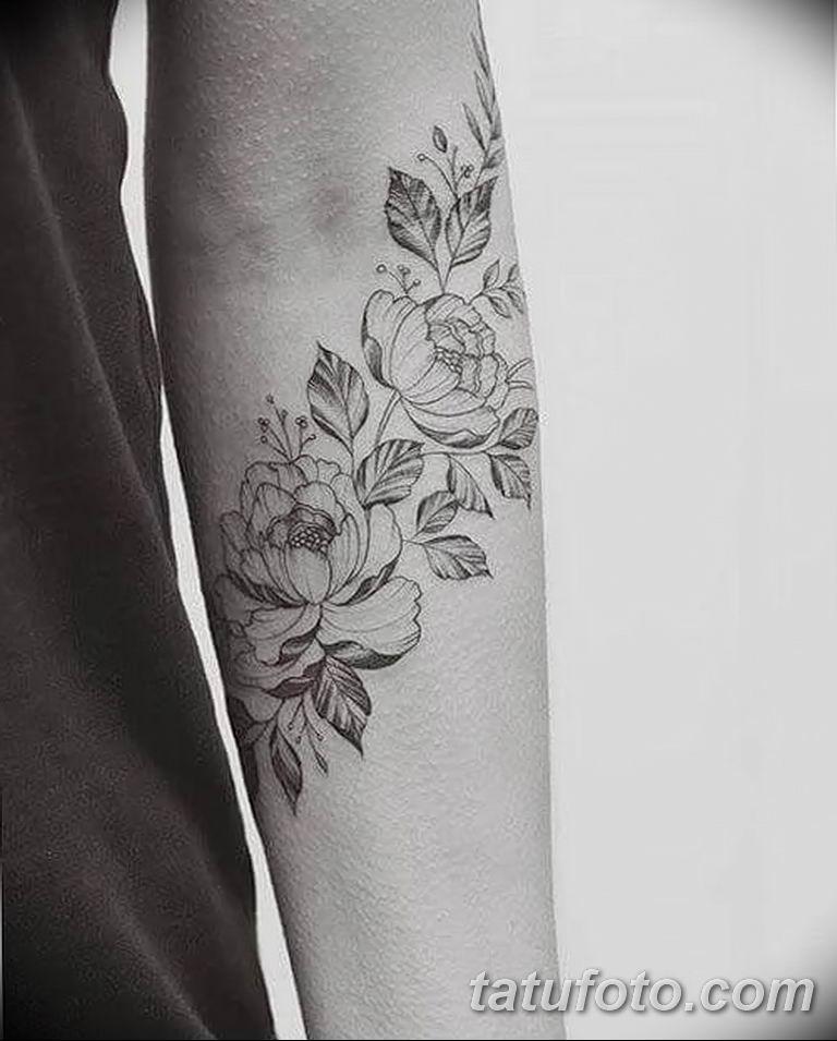Фото тату белые цветы18.06.2019 №182 - tattoo white flowers - tatufoto.com