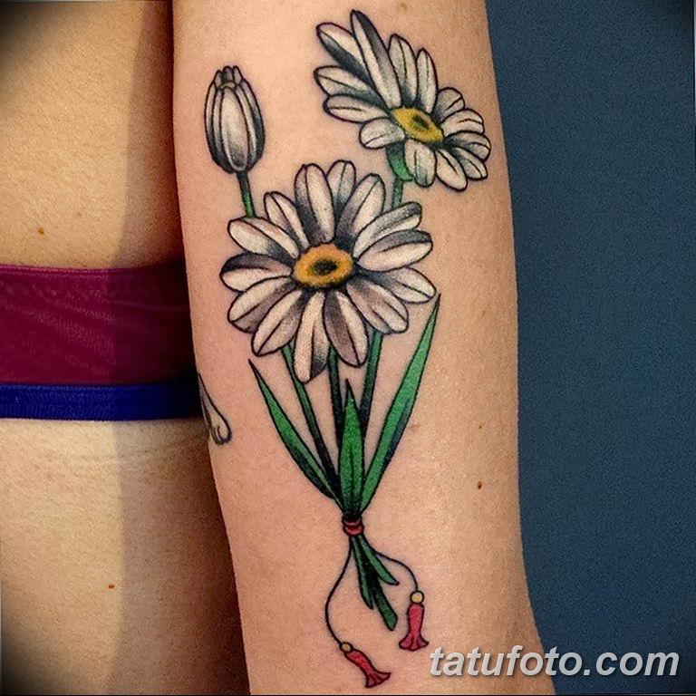 Фото тату белые цветы18.06.2019 №195 - tattoo white flowers - tatufoto.com