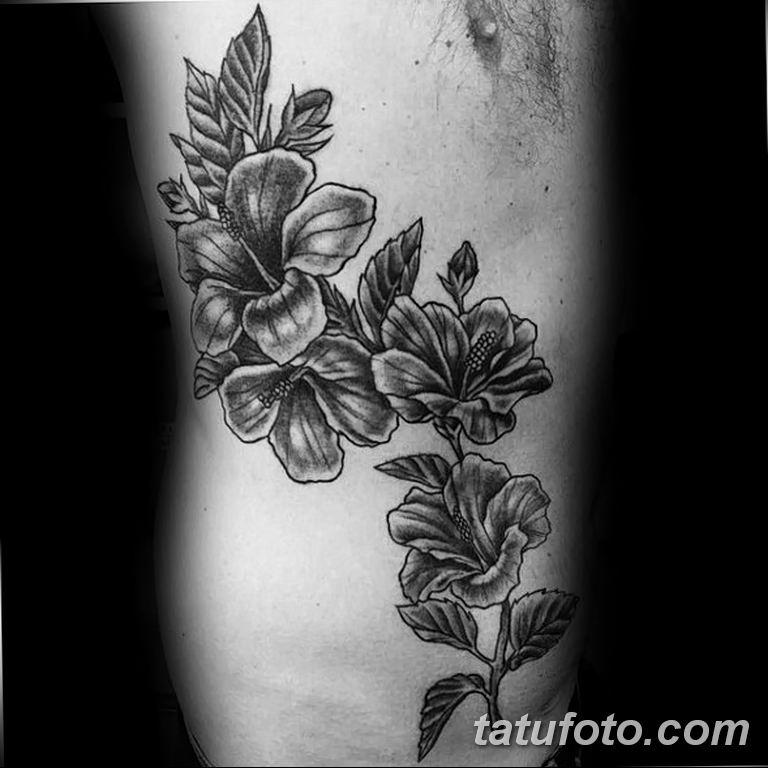 Фото тату белые цветы18.06.2019 №198 - tattoo white flowers - tatufoto.com