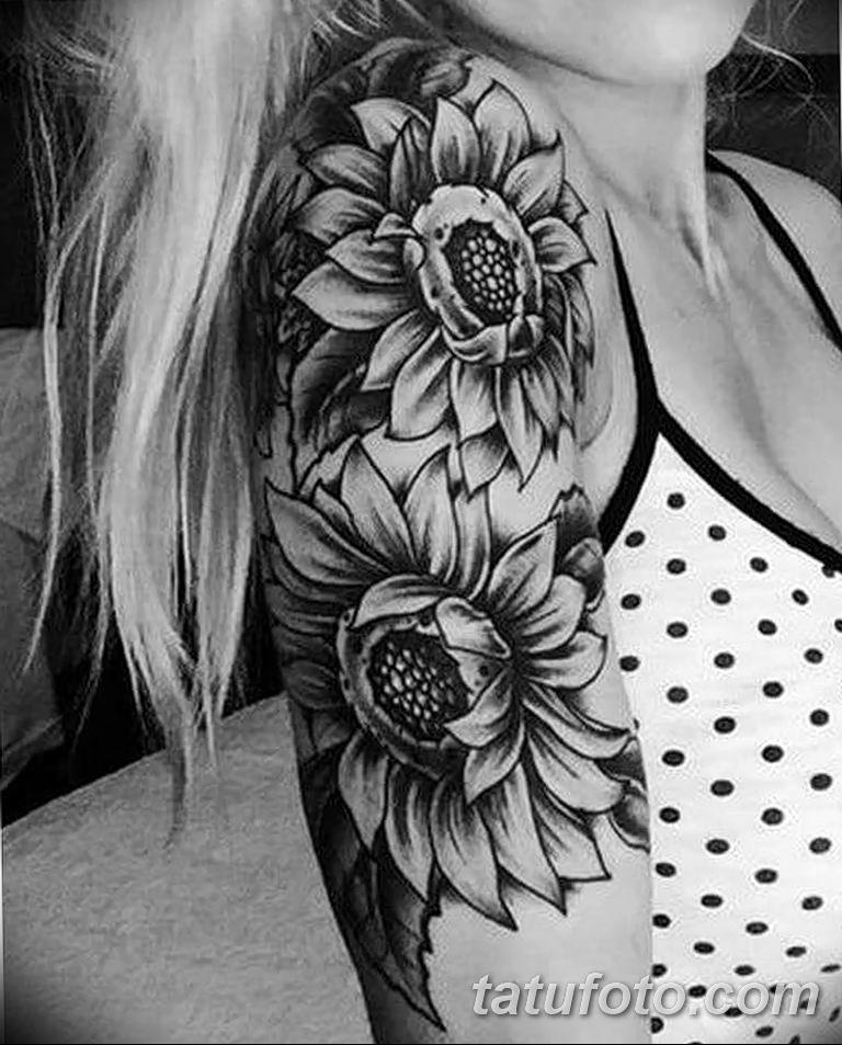 Фото тату белые цветы18.06.2019 №203 - tattoo white flowers - tatufoto.com
