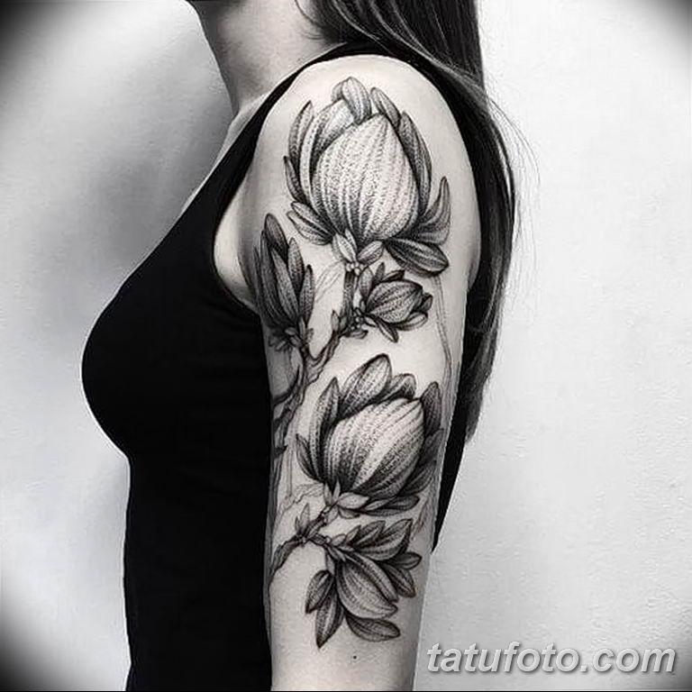 Фото тату белые цветы18.06.2019 №211 - tattoo white flowers - tatufoto.com